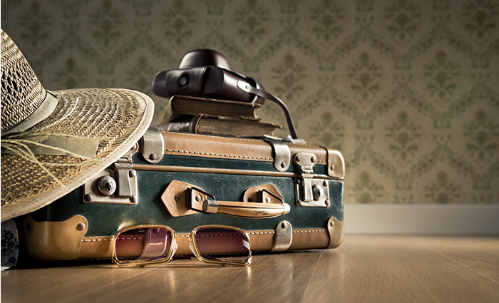 The summer holiday luggage