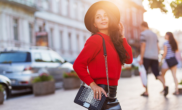 The red sweater: 3 styling combinations